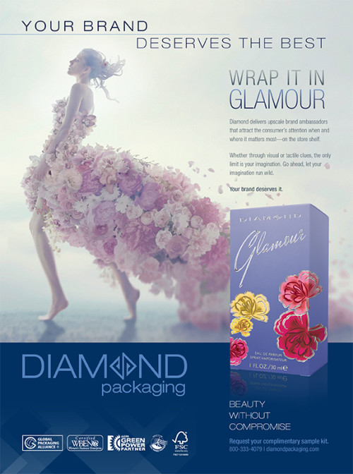 Diamond Packaging Glamour Ad Brand Packaging