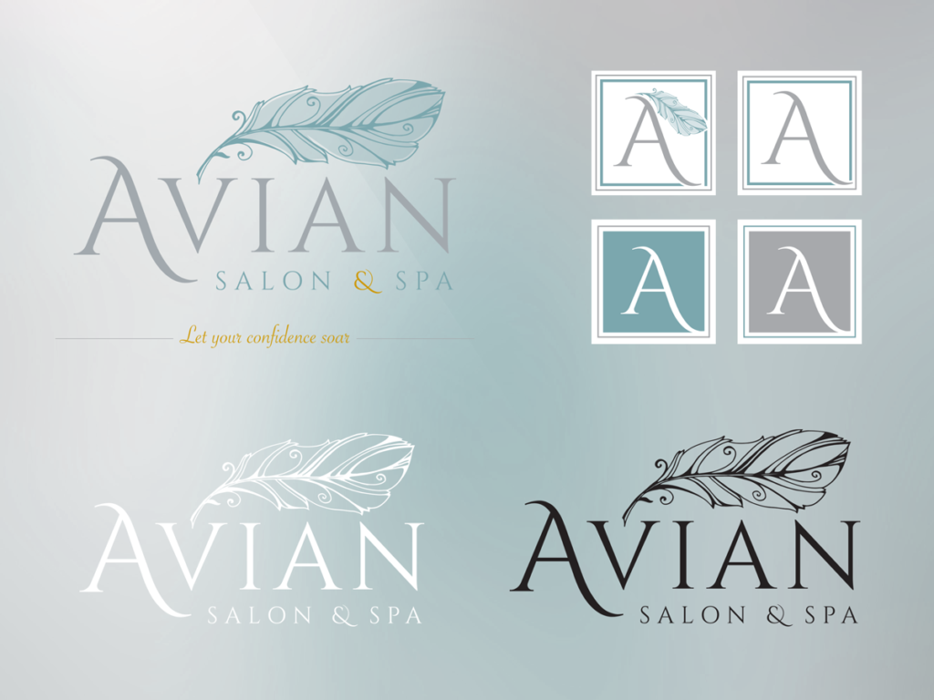 Creative Ideology made sure Avian had all the logos necessary for any media use they may have in the future.